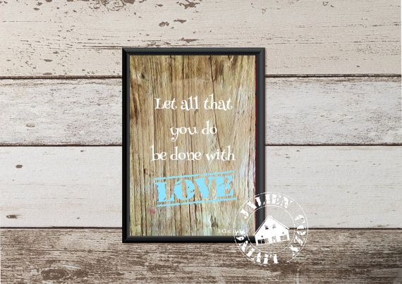 Let all that you do be done with love  van JalienCozyLiving op Etsy