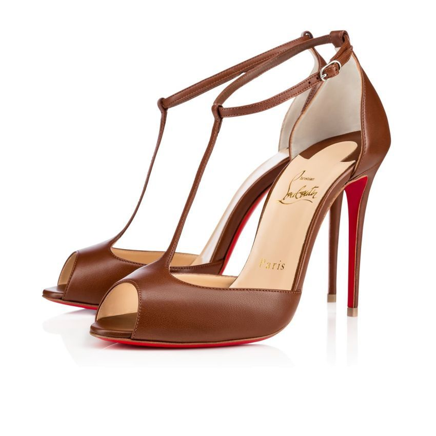 Christian Louboutin Ireland Official Online Boutique - Senora Ada 100 NUDE  6 Lambskin available online. Discover more Women Shoes by Christian  Louboutin