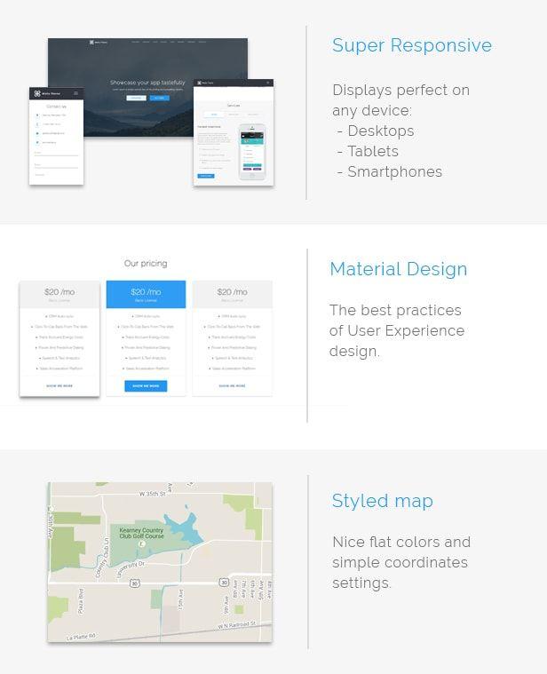 Malto - Material design App Showcase Template Material design, App - software testing spreadsheet template