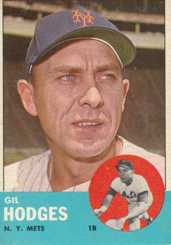 1963 Topps Gil Hodges Gil Hodges Baseball Card Values