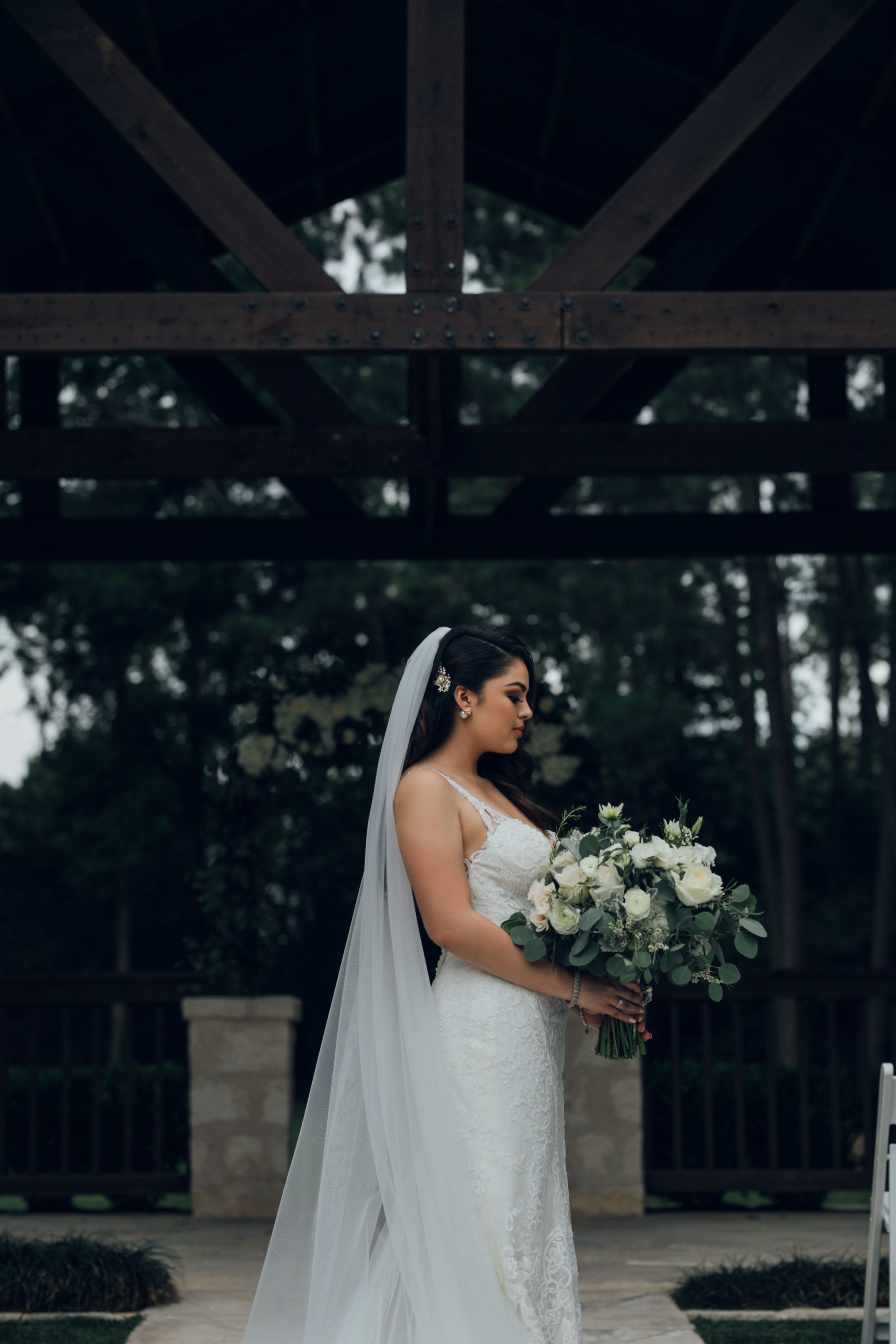 bridals taken at the outdoor ceremony site of THE