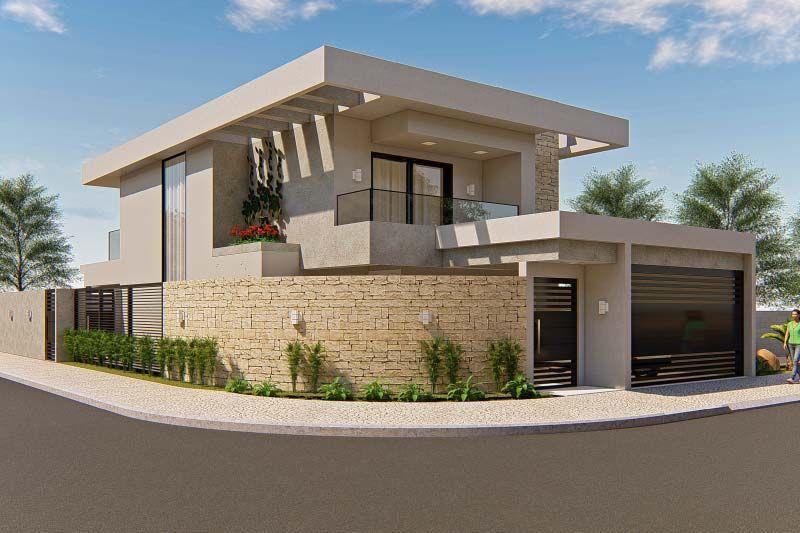 Plano De Casa De La Esquina Planos De Casas Modelos De Casas E Mansiones E Facha En 2020 Fachadas De Casas Contemporaneas Fachadas De Casas Modernas Planos De Casas
