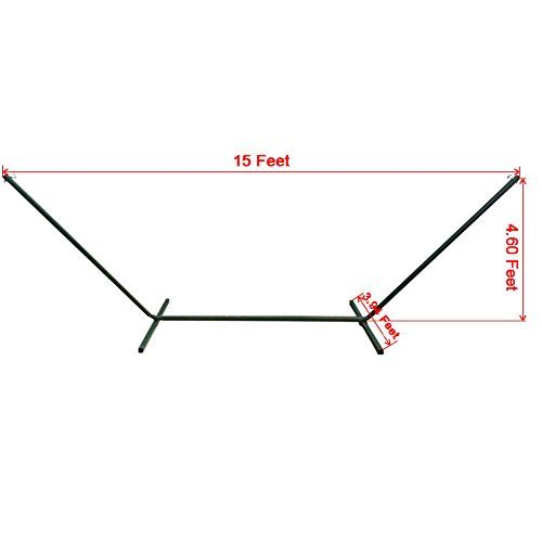 prime garden 15 ft heavy duty steel tubing hammock hammock stand wheel