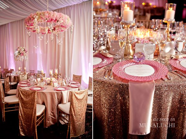 Rose Gold Wedding Ideas For Ceremony Reception Décor: Pretty In Pink Backyard Wedding In Atlanta Planned By