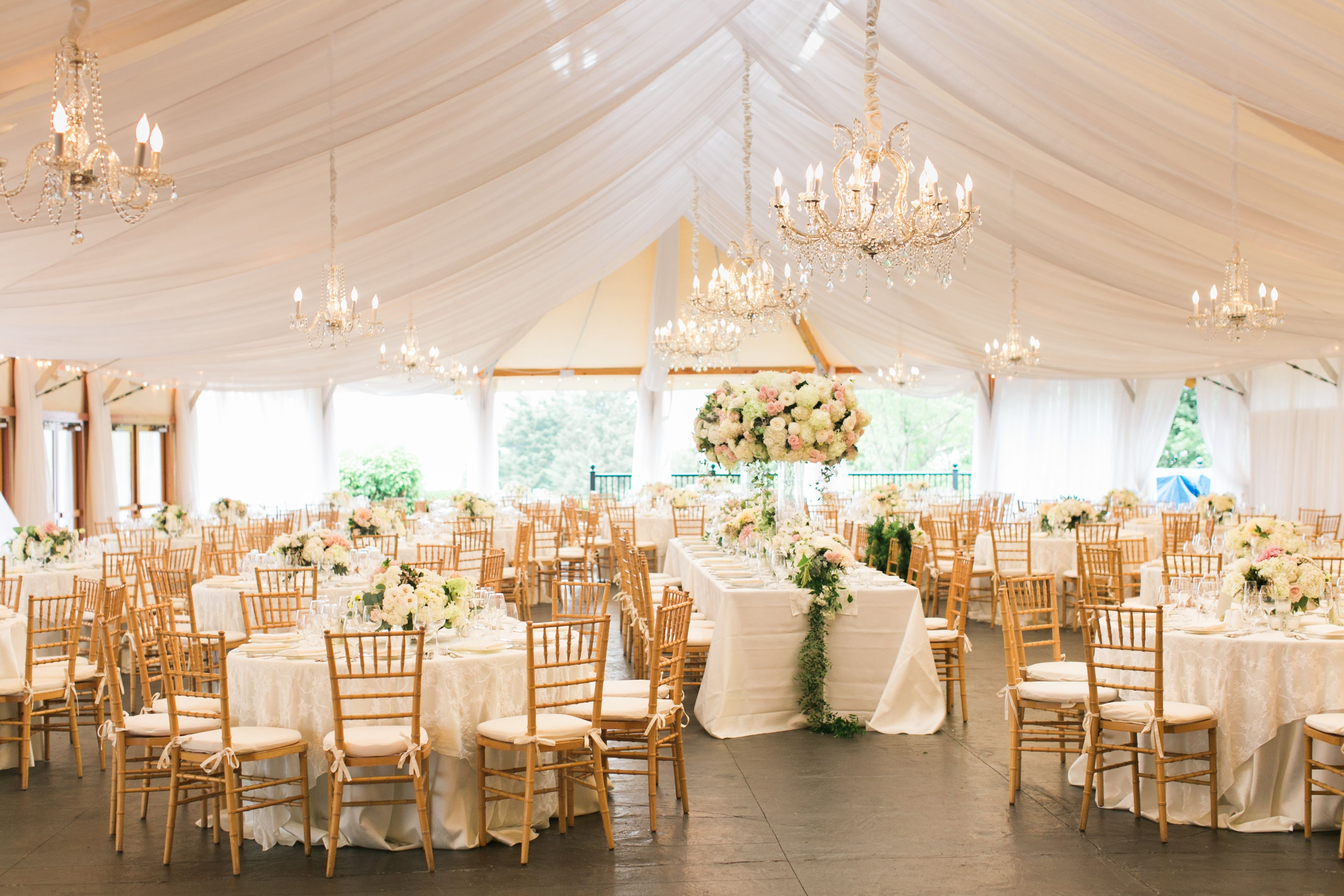 Castle Hill Inn Sailcloth Tent Reception Wedding tent