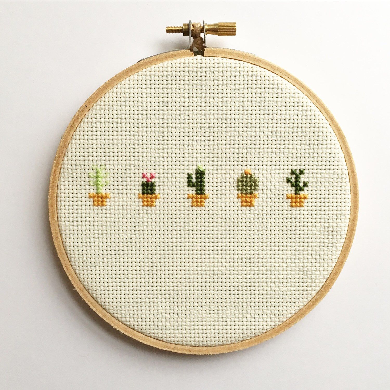 Cactus Cross Stitch - Hoop Art - Embroidery - Succulents by ...
