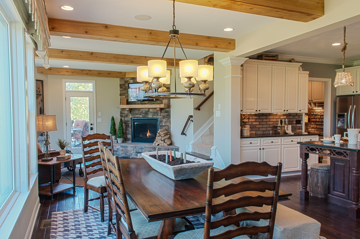 Modern countrystyle eat in kitchen favorite places u spaces