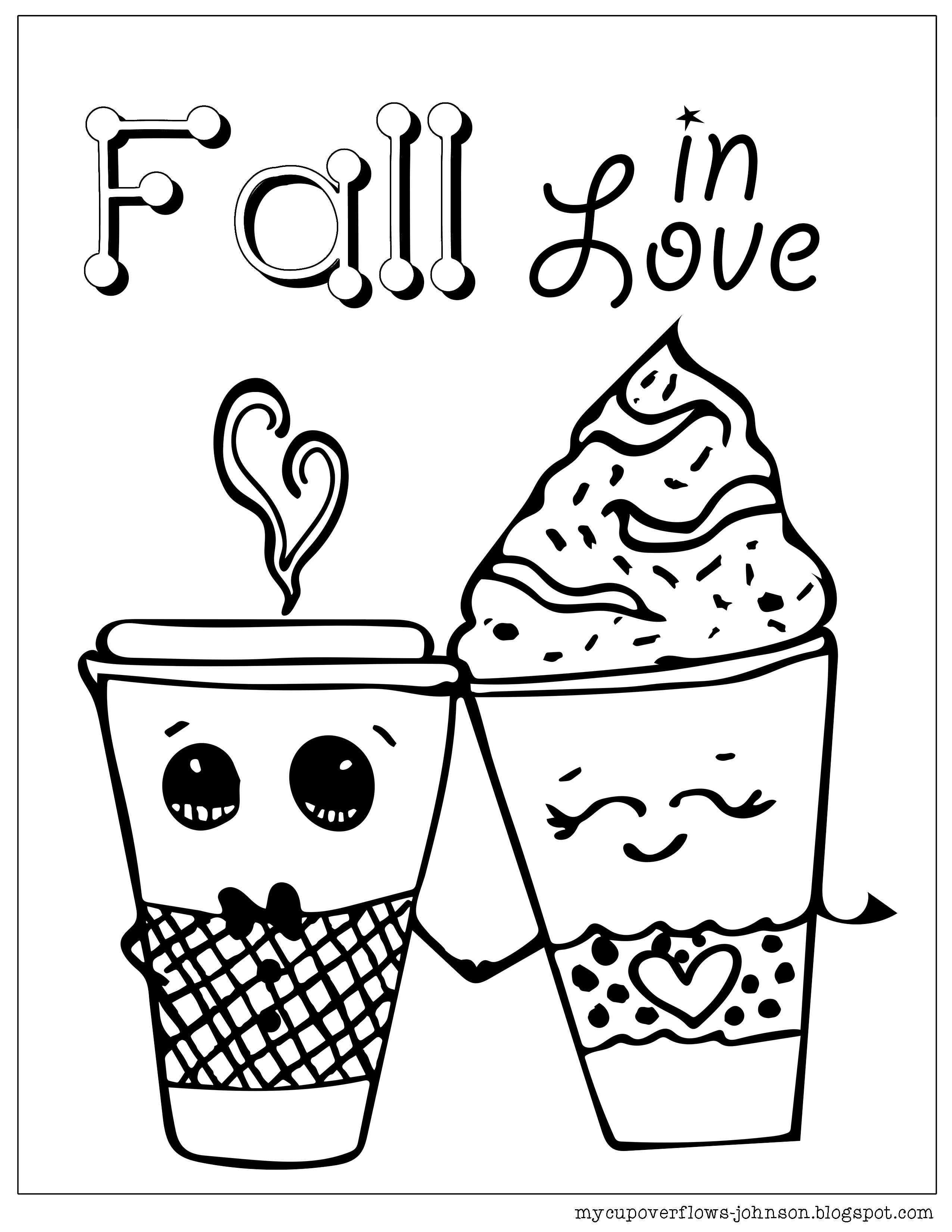 Fall In Love Coloring Page Love Coloring Pages Coloring Pages