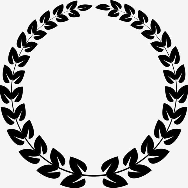 Black Leaf Round Circle Leaf Black Round Png And Vector With Transparent Background For Free Download Black Leaves Tattoo Fonts Circle