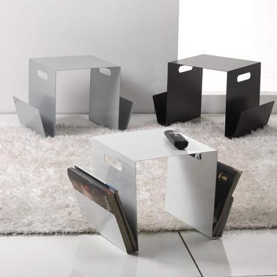 Portariviste tavolino in metallo laccato design moderno for Mobili di marca