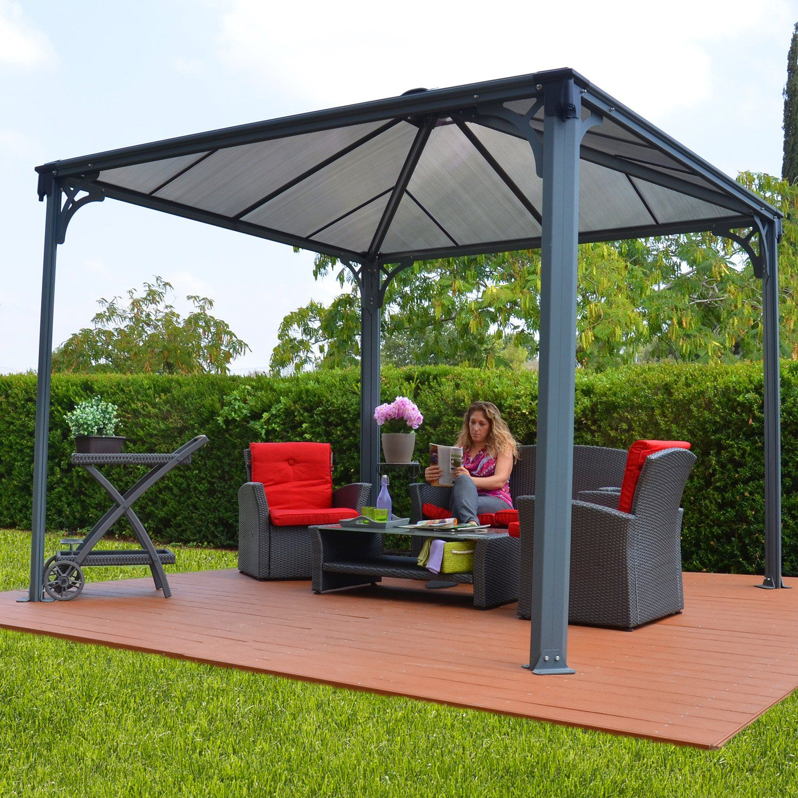 Extremely Have to have it. Palram Palermo 3600 Gazebo - 12 x 12 ft. - Gray  HK12
