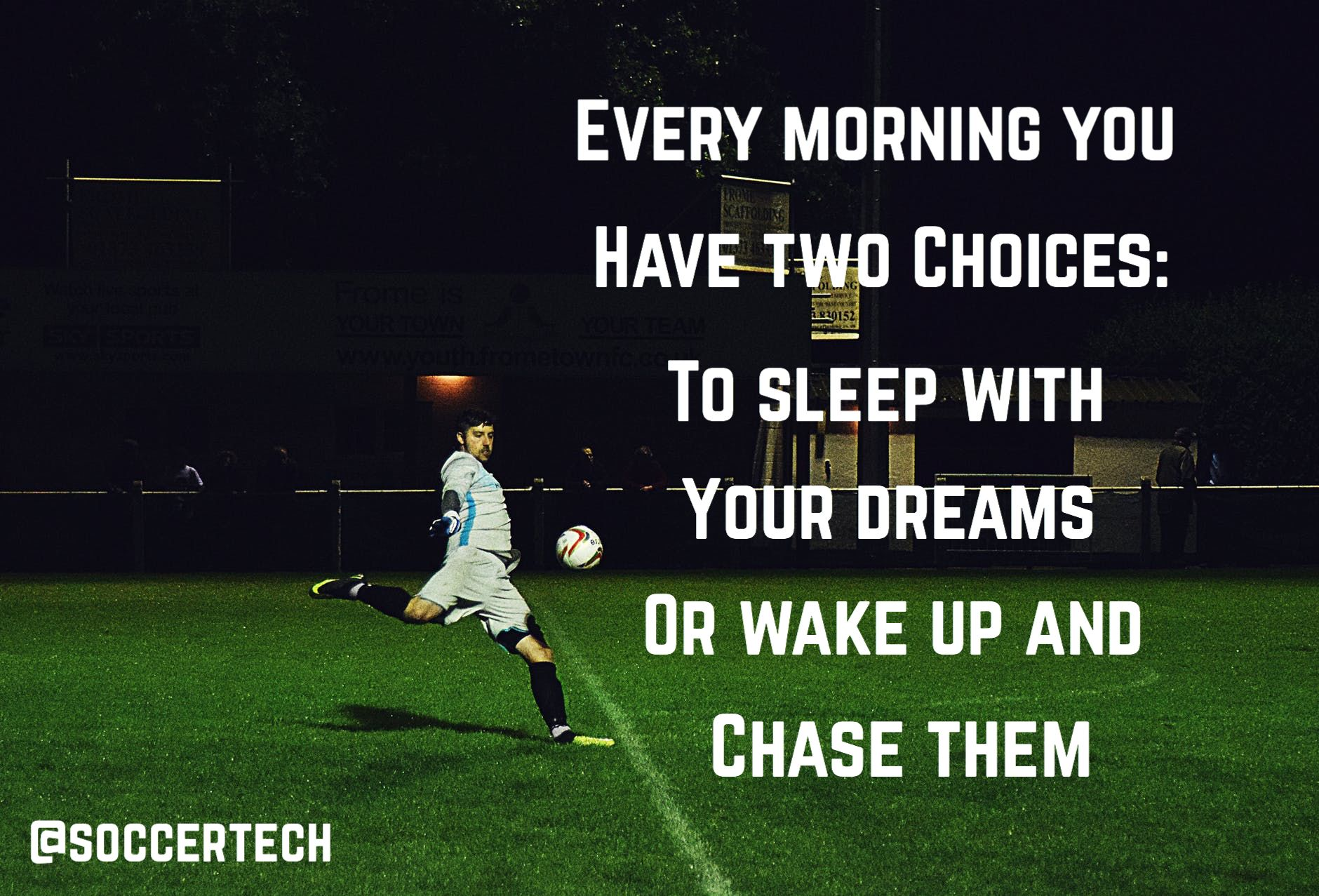 Chase Your Dreams Soccer Inspiration Motivation Futbol Quotes Soccerquote Motivationalquotes Inspirationalquo Soccer Quotes Soccer Inspiration Soccer