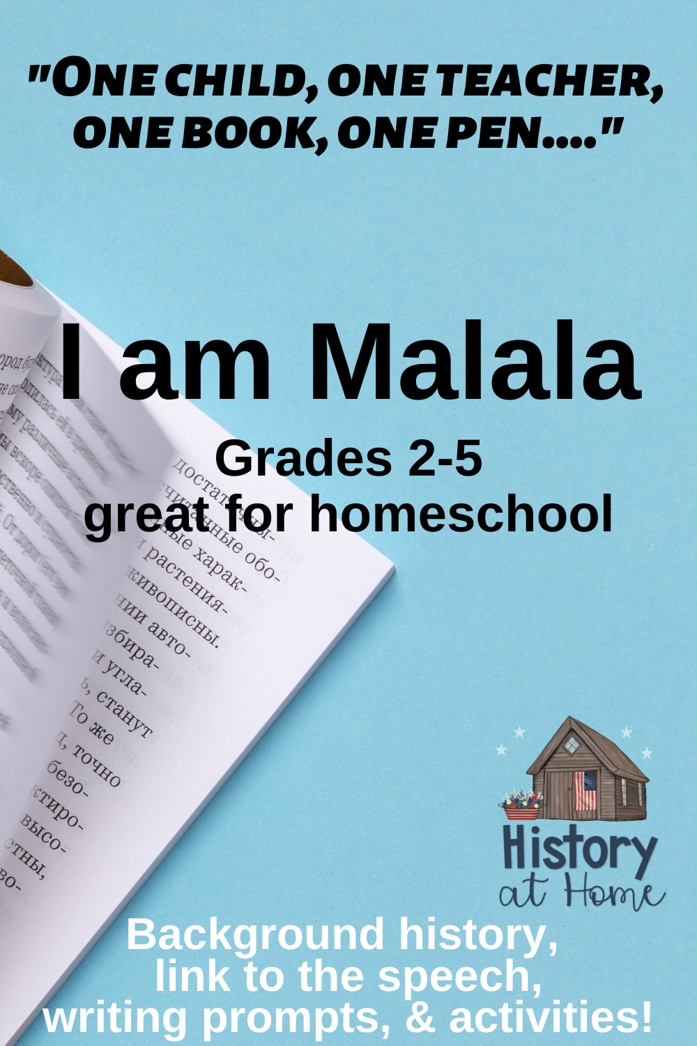 Photo of I Am Malala Speech Guide and Analysis for Grades 2-5 and Homeschool