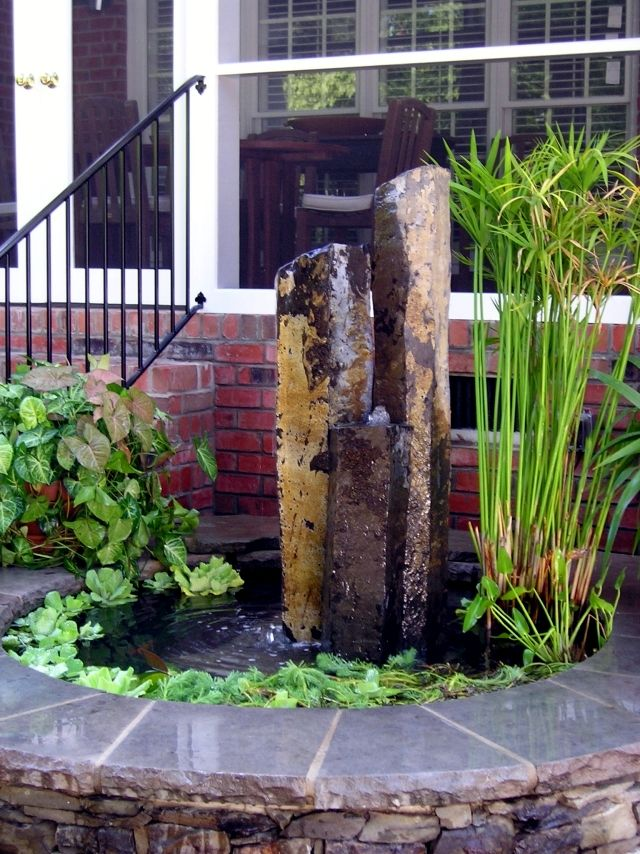 stone fountain | water features | Pinterest | Garten, Brunnen und ...