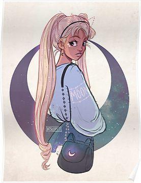 Moon Poster By Itslopez Cute Art Drawings Cute Drawings