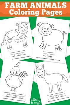 Farm Animal Coloring Pages Farm Preschool Theme Farm