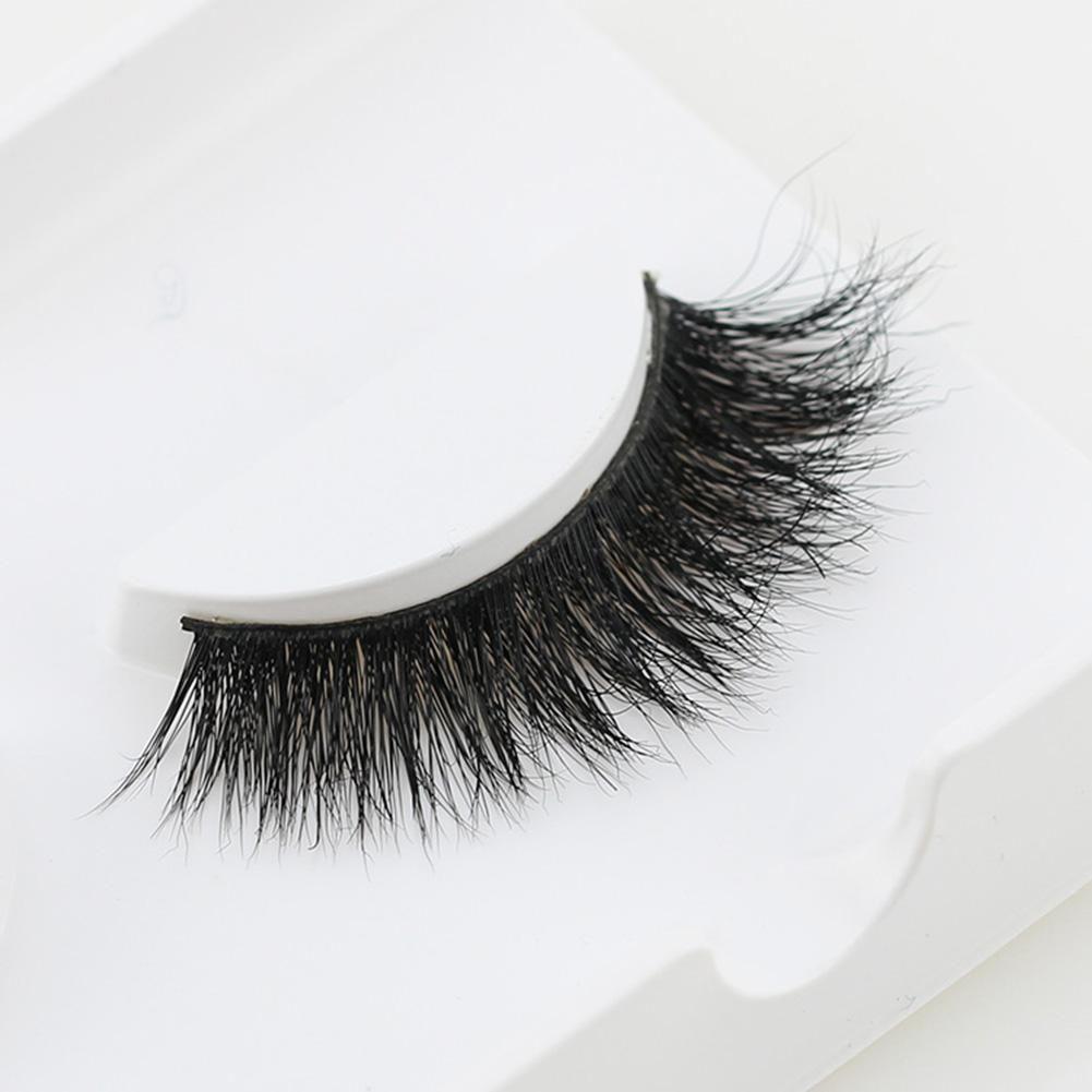 1 Paar Lady Dickes Schwarzes Langes 3D Falsche Wimpern Weiche Wimpernverlängerung Make-up – wie das Bild / Einheitsgröße