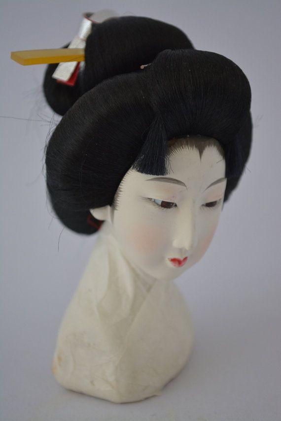 Geisha Hairstyle Model Japanese Hairdressing Vintage Maiko Etsy Model Hair Hairdresser Geisha