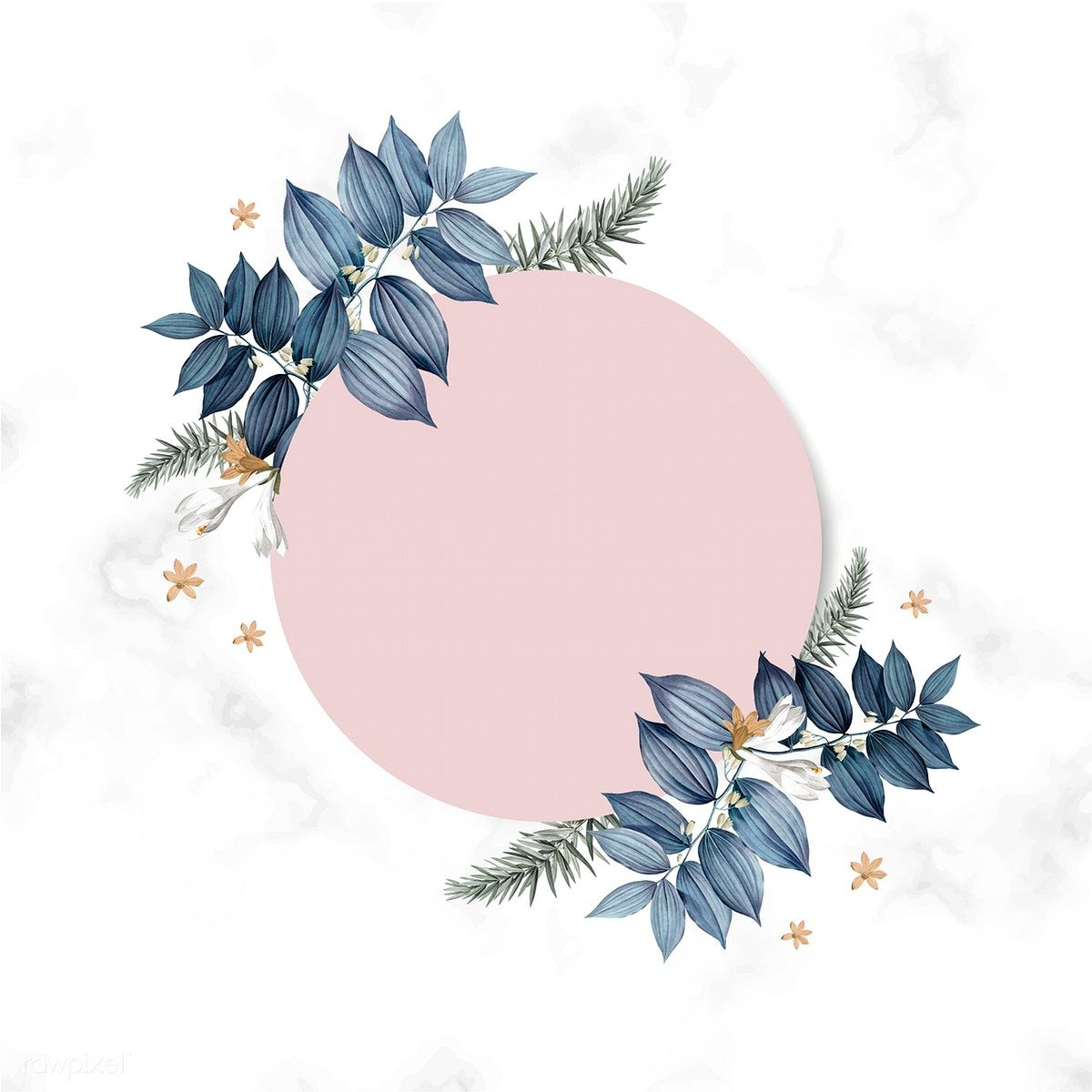 Download premium illustration of Empty floral card frame