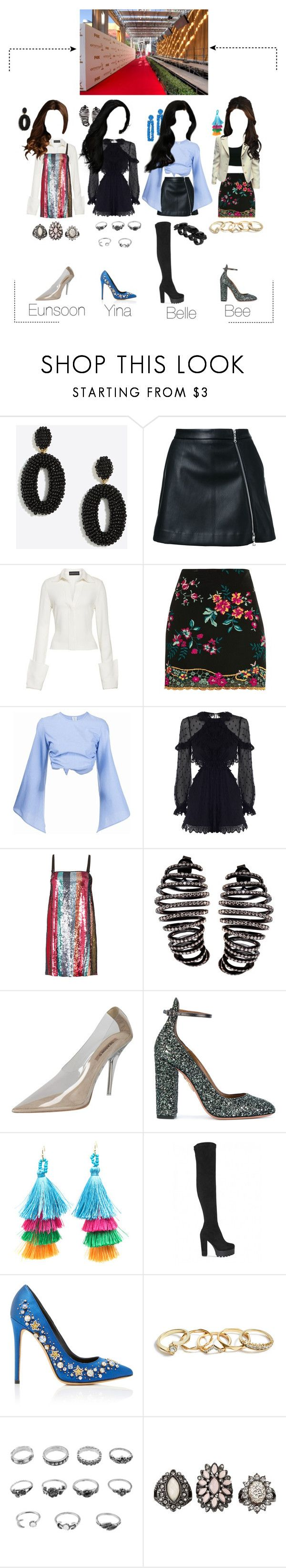 """""""[BCMF] Madam Pearl at arrivals line in Bang Charity"""" by official-madampearl ❤ liked on Polyvore featuring Guild Prime, Brandon Maxwell, Topshop, Rosie Assoulin, Zimmermann, Tanya Taylor, Plukka, Sachin + Babi, Aquazzura and GUESS"""