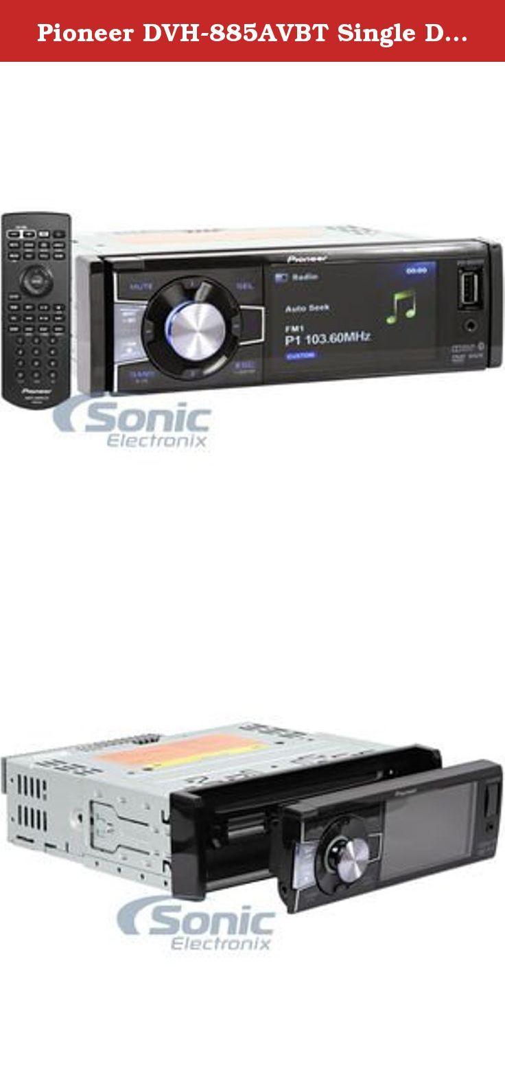 medium resolution of pioneer dvh 885avbt single din bluetooth in dash dvd cd am