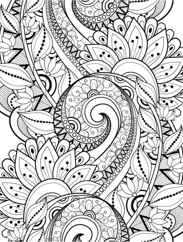 Flower Coloring Pages For Adults Printable is part of Flower coloring pages, Adult coloring pages, Doodle coloring, Adult coloring book pages, Coloring books, Coloring sheets - See our collection of flower coloring pages for adults printable  find out in the gallery below