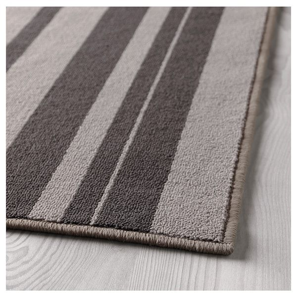 IBSTED Vloerkleed, laagpolig grijs 120x180 cm
