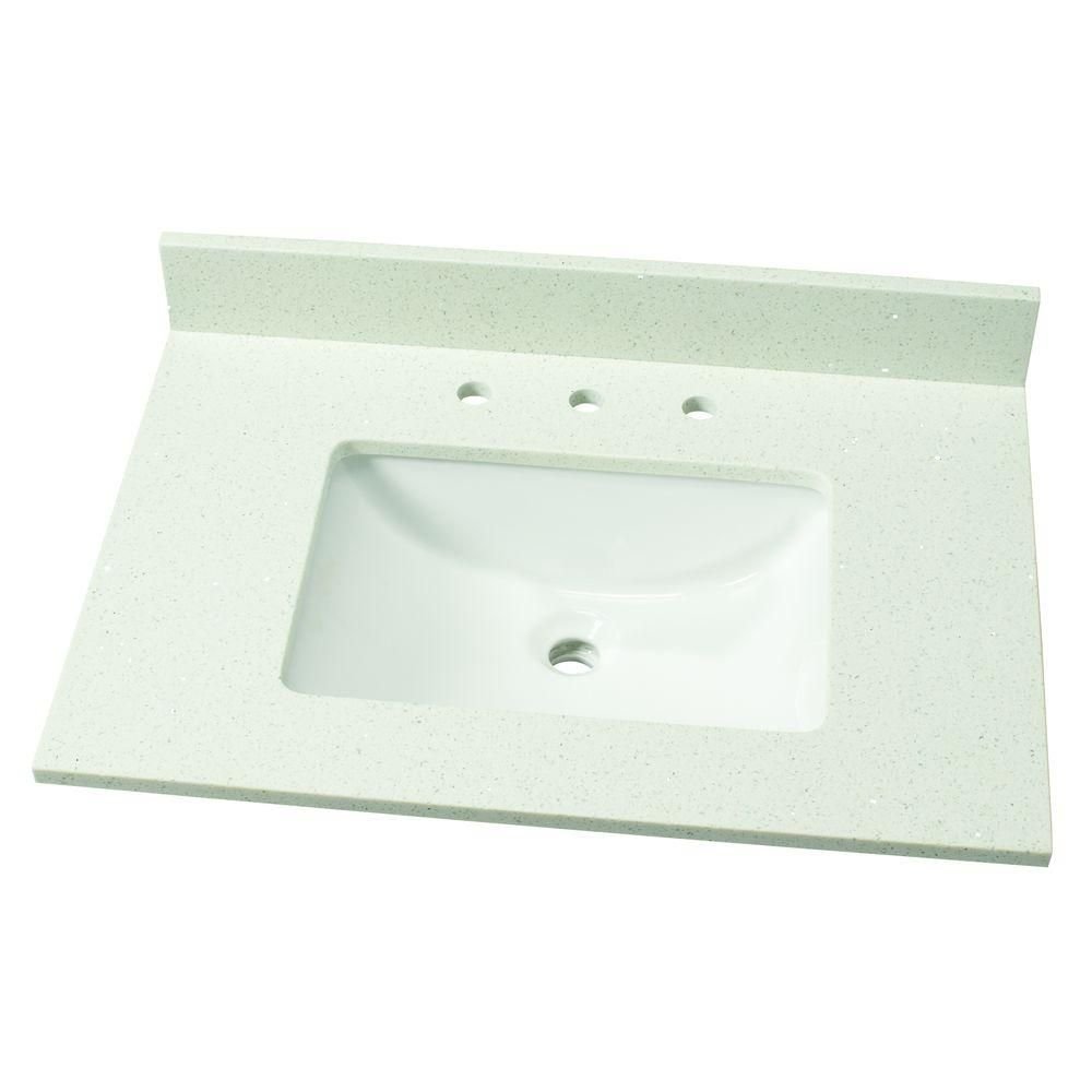 Home Decorators Collection 31 in. W Quartz Single Vanity Top in ...