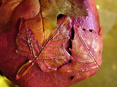 detail of leaf vase