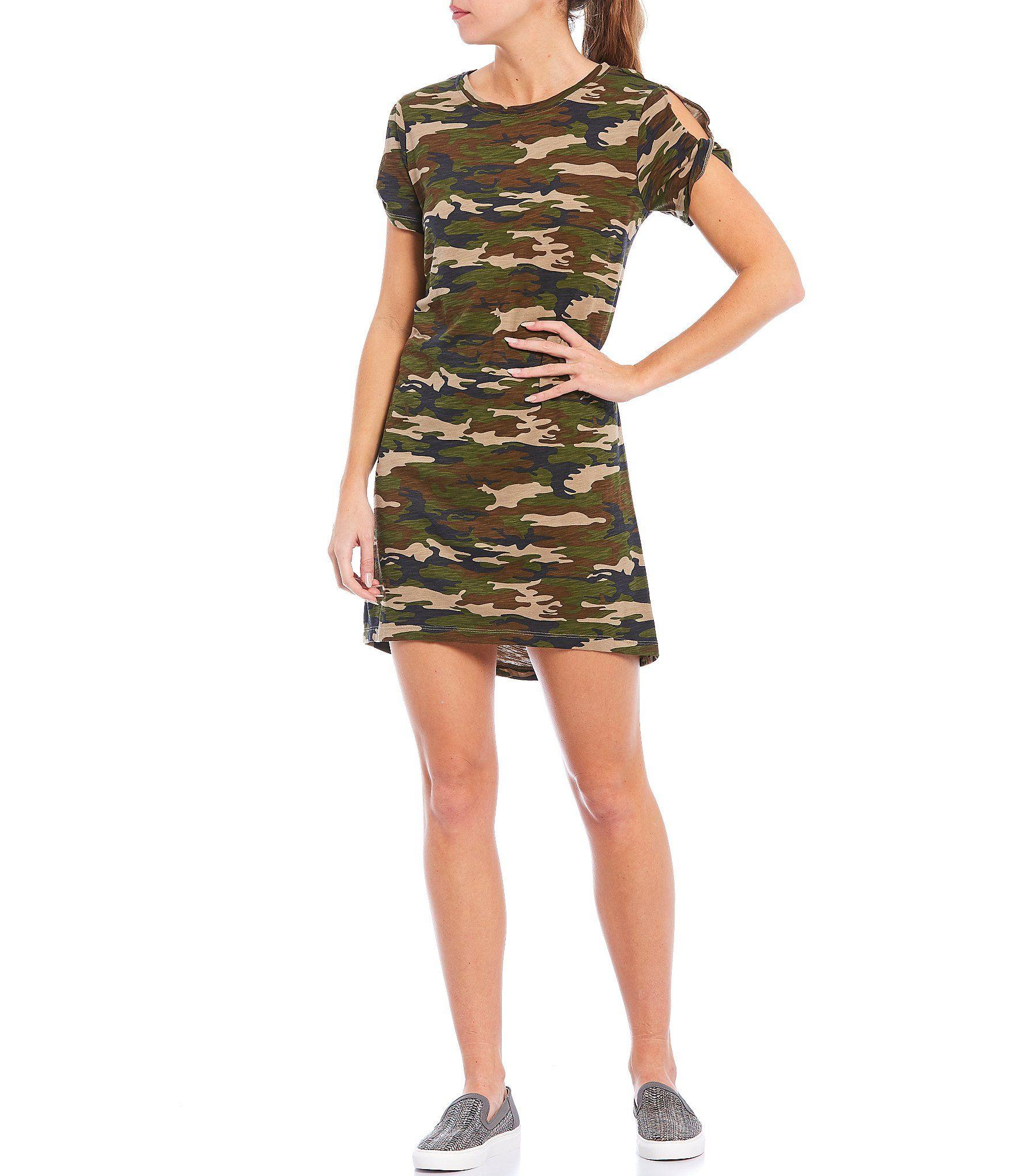 Sanctuary Camo T Shirt Short Sleeve Knit Dress Dillard S In 2021 Camo Dress Knit Dress Dresses [ 2040 x 1760 Pixel ]