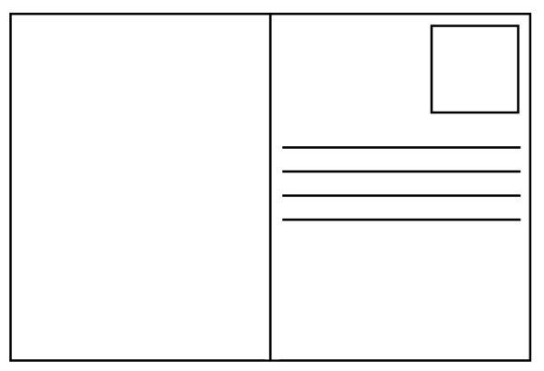 Free postcard templates Blank printable postcards – Free Printable Postcard Templates