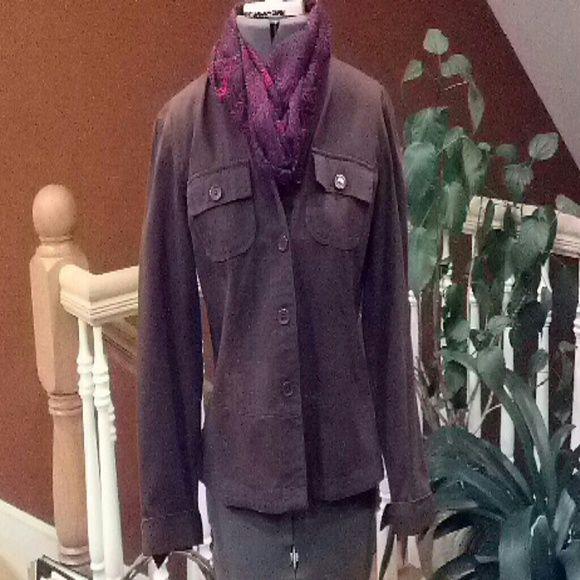 Brown light coat. Spring light weight cotton coat. van Heusen Jackets & Coats