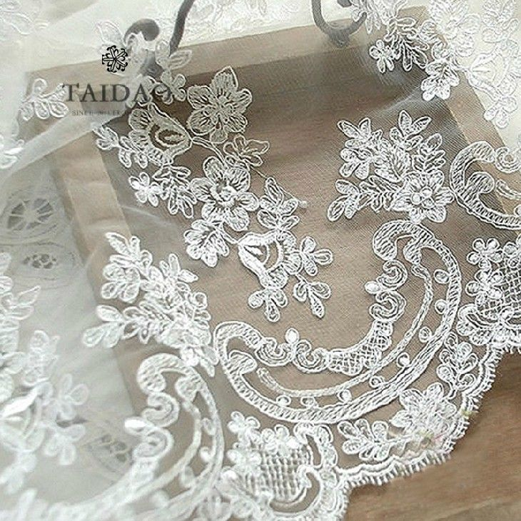 Gong Ting Leisi Luxury Cars Bone Embroidery Fabric Wedding Dress Arel Fabrics L55 Band