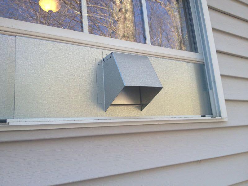 Window Dryer Vent Dryer Vent Windows Metallic Backsplash