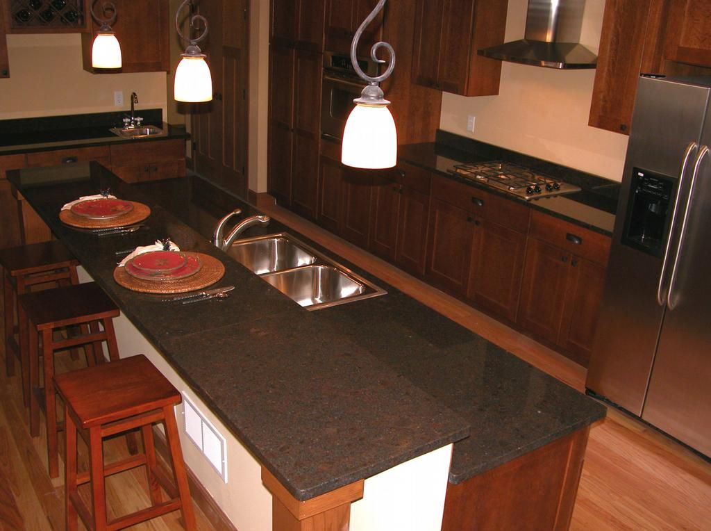 Coffee Brown Granite Kitchen | Coffee Brown Granite Kitchen 2 From Stone  Source Inc In Minneapolis