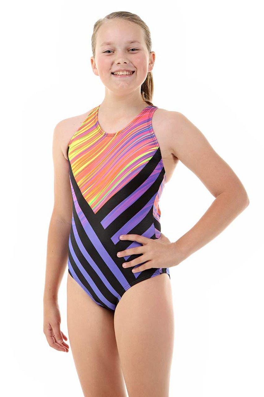 a78fd05be7c Girls Sport Back Wisper One Piece Chlorine Resistant Swimsuit ...