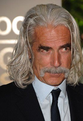 Is there another man alive who could make a woman stop, drop and roll with merely the sound of his vocal cords oozin' in your ear? The timeless Sam Elliot...~~ I love what this woman wrote!!!!