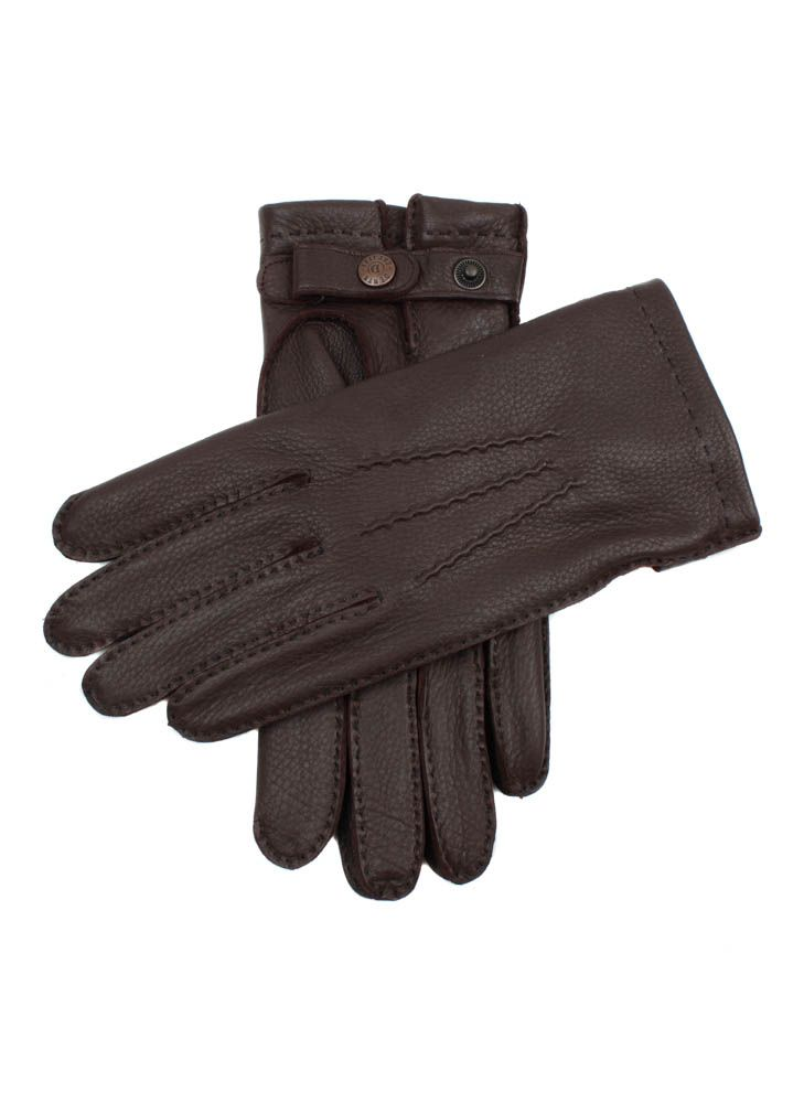 15 1545 Men S Handsewn Deerskin Leather Gloves With 3 Handsewn Points And Dents Stud Closure These Gloves Are Lined In Chamois Sac