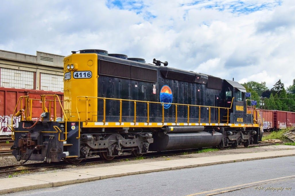 Blue Ridge Southern (BLU) #4116 / SD40-2. This class 3 short line started operation on July 26, 2014 out of Canton NC.- picture by trekky60 - August 2014