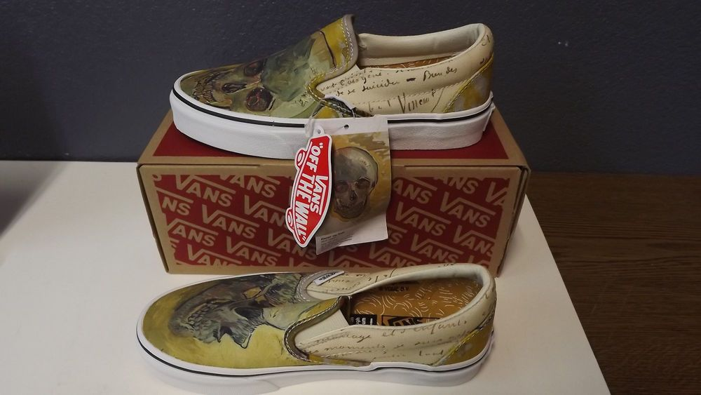Vans Vincent Van Gogh Collection Ua Skull Slip On Mens 4 Womans Size 5 5 New Fashion Clothing Shoes Accessories Unisexclothingshoes Vans Sneakers Slip On