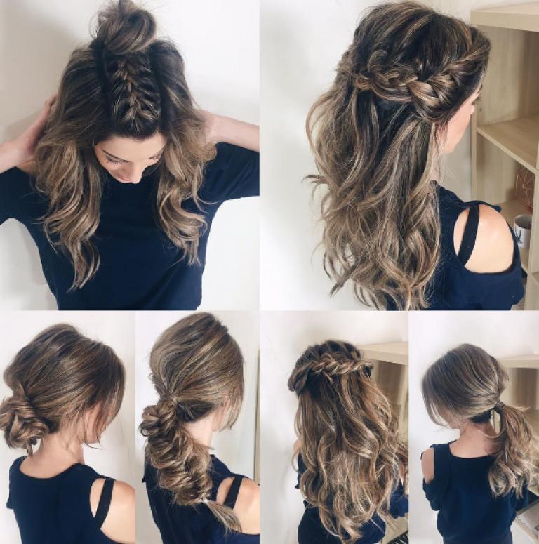 Schicke Frisuren Für Mittellanges Haar Selber Machen Pinterest