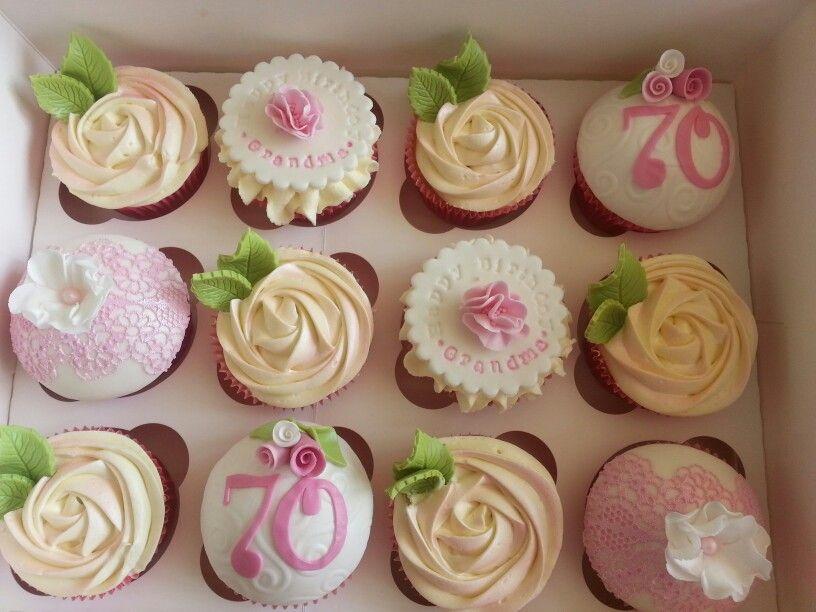 70th birthday cupcakes 70th birthday cake, Birthday