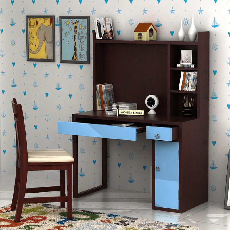 Amazing #study #table For #boys With Attractive #colour And #design Has  Lots Of #storage Space To Organise The #books. It Can Be Used As A  #computer Table ...
