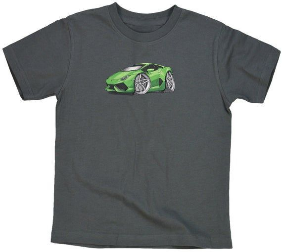 Lamborghini Huracan Green Silver Koolart T-Shirt for Youth #lamborghinihuracan Lamborghini Huracan Green Silver Koolart T-Shirt for Youth #lamborghinihuracan