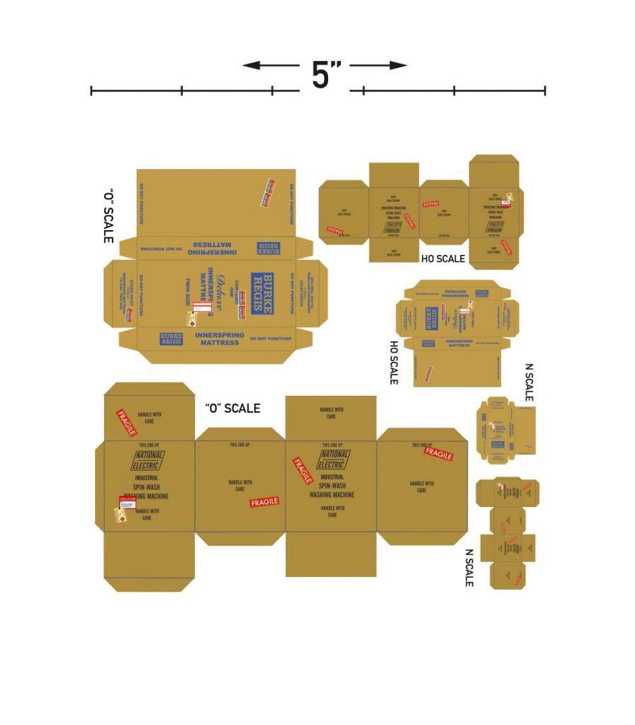 graphic regarding Printable Diorama referred to as Railroad Line Message boards - Printable Containers paper layouts