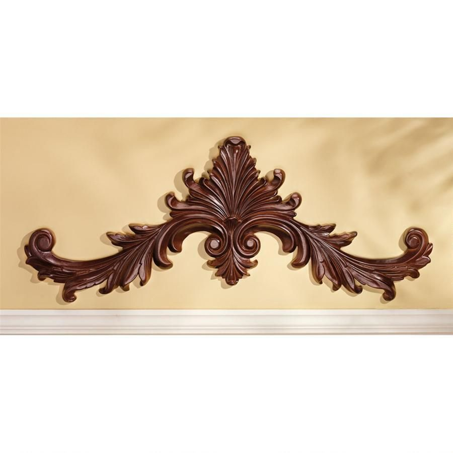 Baroque Architectural Wooden Wall Pediment Wall Decor Iron Wall