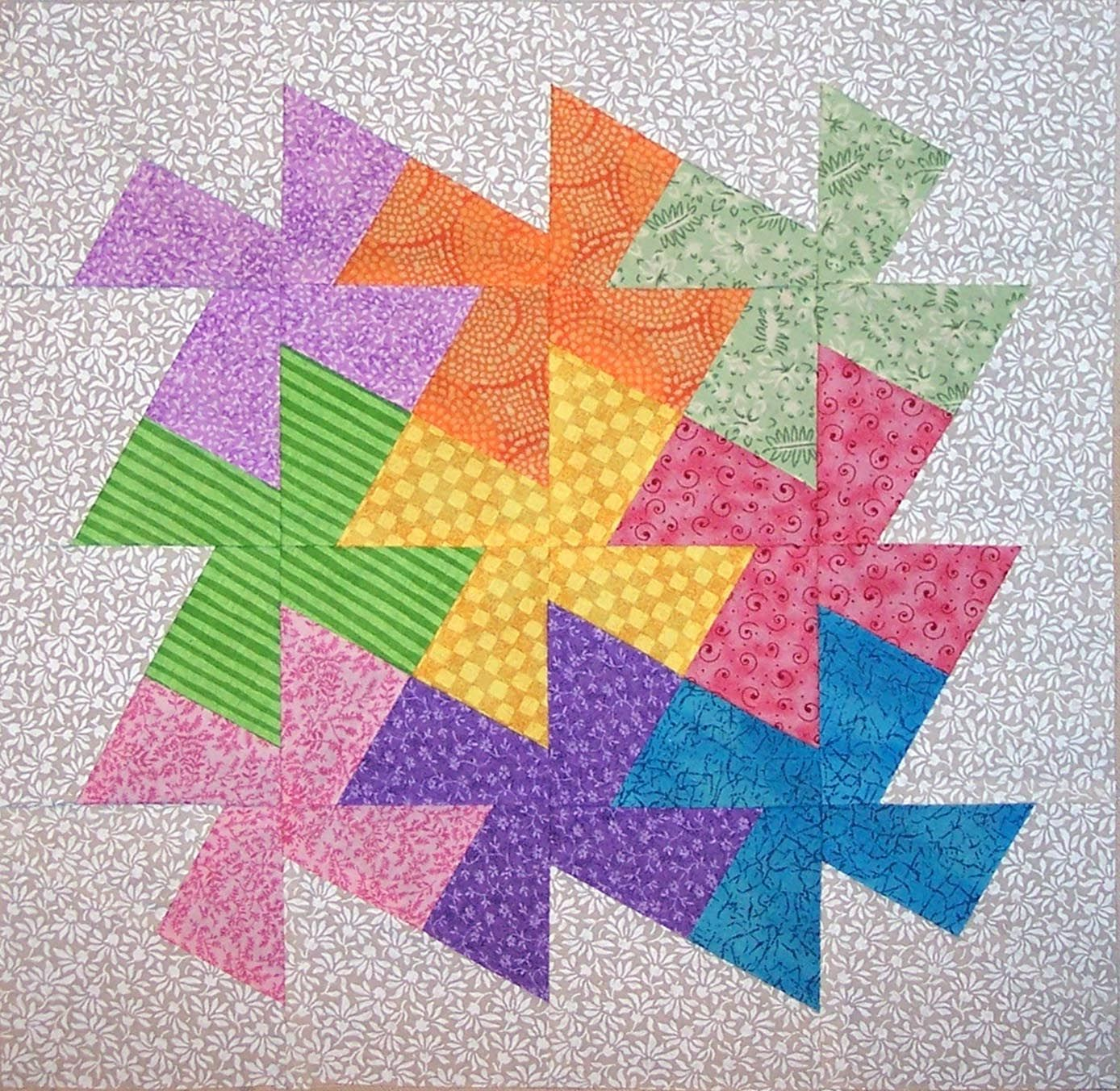 Lil' Twister quilt done in a cross pattern. Description from ... : twister quilt ruler - Adamdwight.com