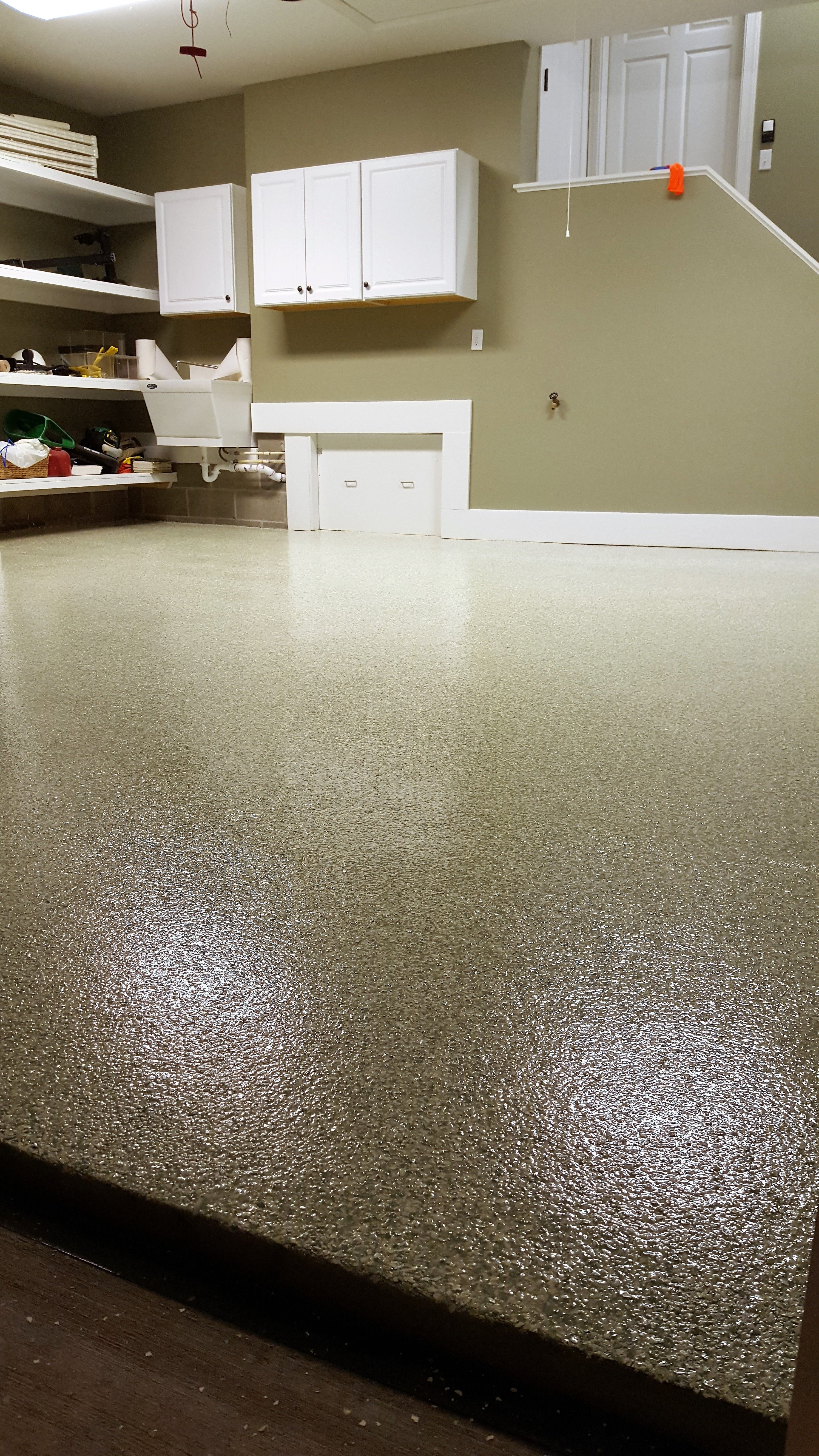 Garage Epoxy Cure Time The Texture Of The Fully Cured Coating Is Evident In This Picture