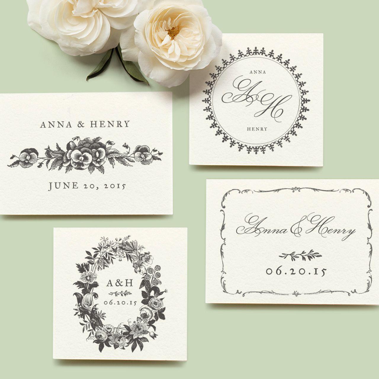 Free customizable classic wedding logos from violetwedding.com. Full ...