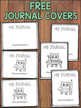 FREE Journal Covers | Printables for Pre-K | Writing journal ...